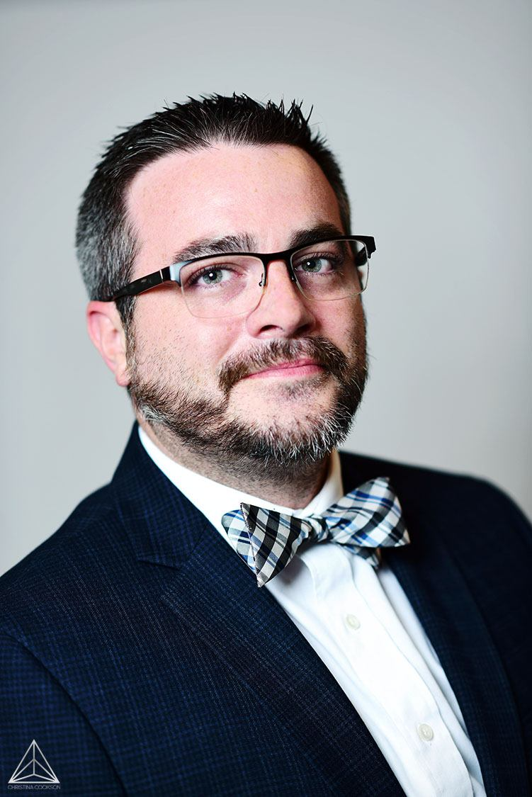 Corporate headshot of business man in Denver